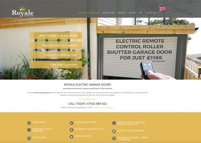 Royale Garage Doors website rebuild