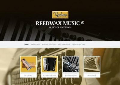 Reedwax music for accordion homepage