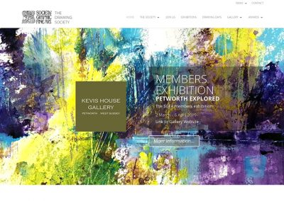 Homepage slider, advertising Petworth Members Exhibition, image by Chris Forsey, SGFA