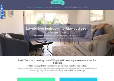 Petit Tor IOW Self-catering, JGM Design,accommodation